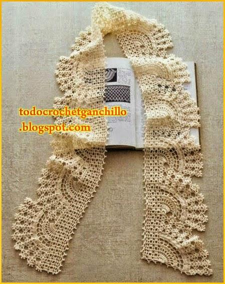 Fina puntilla tejida al crochet