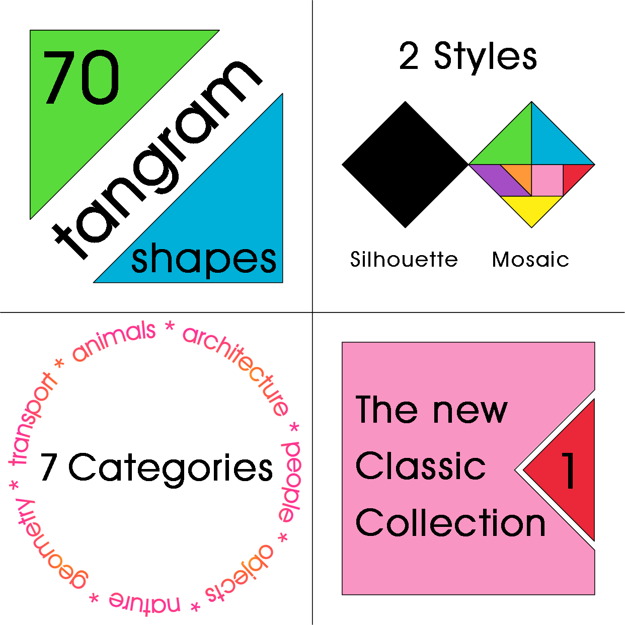 Colorful Tangrams The New Classic Collection