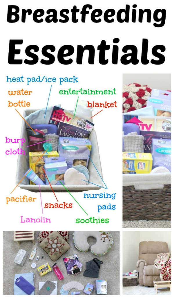Click to see a comprehensive list of breastfeeding essentials. This article includes a description of everything you need to include in an organized nursing station perfect for nighttime feedings.