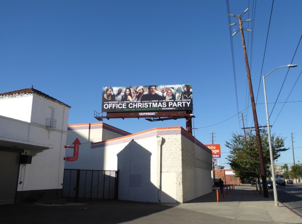 Office Christmas Party film billboard