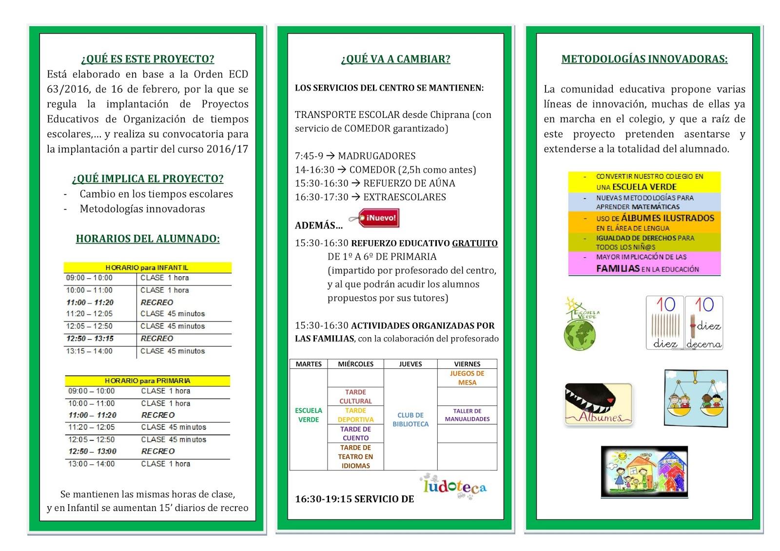 C e i p alejo lor n albareda informaci n sobre el for Proyecto educativo de comedor escolar