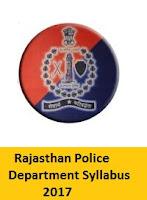 Rajasthan Police Department Syllabus 2017