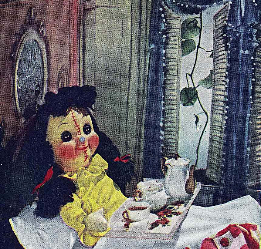 a scary doll photograph