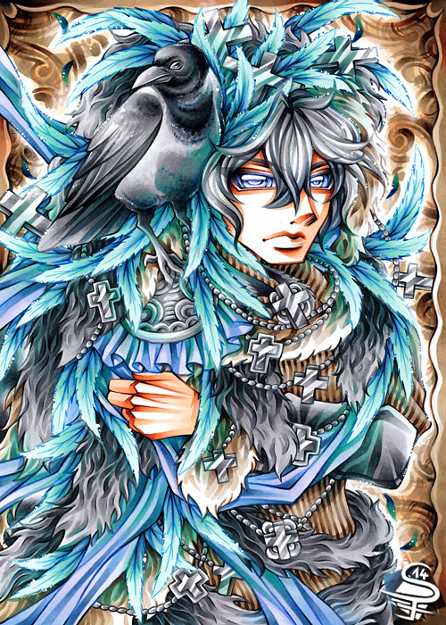 11-Noble-Azure-Sandra-Filipova-DarkSena-Manga-Black-and-White-and-Colour-Detailed-Drawings-www-designstack-co