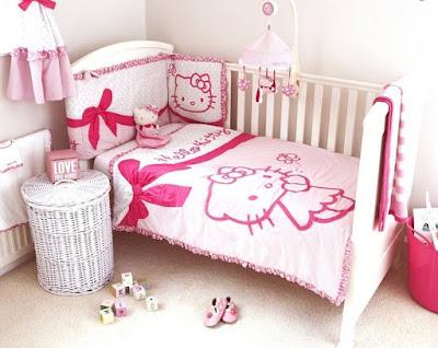 Kamar Tidur Feminim Bernuansa Hello Kitty