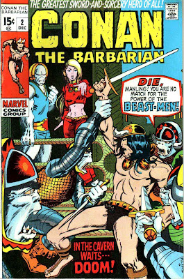 Conan the Barbarian v1 #2 marvel comic book cover art by Barry Windsor Smith