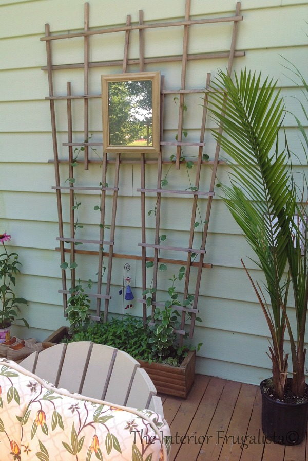 DIY Looking Glass Outdoor Mirror