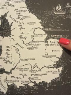 "mapa - ""Ostatnie królestwo"" Bernard Cornwell, fot. paratexterka ©"