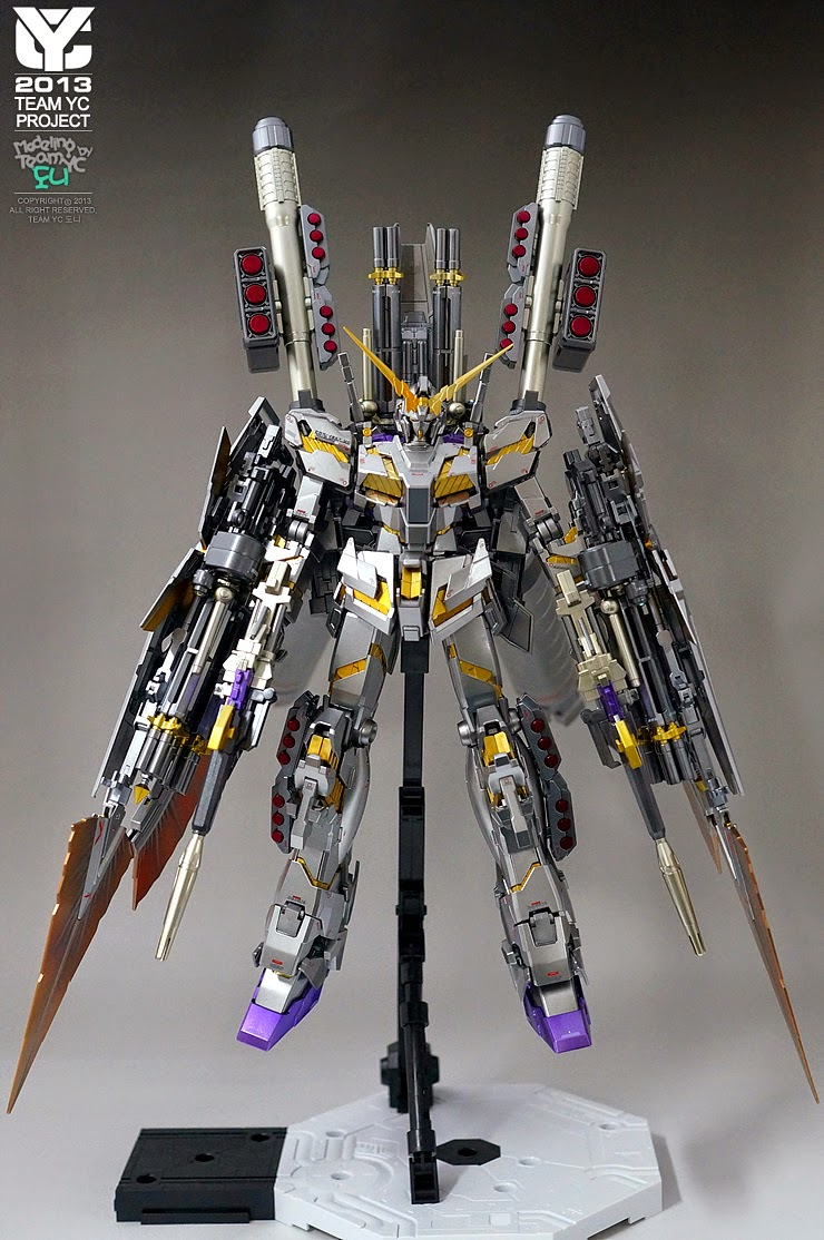 mg 1  100 full armor unicorn gundam ver  ka  u0026quot metallic silver u0026quot  painted build