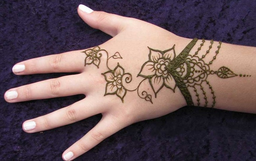 Mehndi Patterns Images : Easy and simple mehndi designs for kids hands 2017 collection