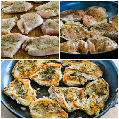 Sauteed Chicken Breasts with Olive and Caper Sauce found on KalynsKitchen.com