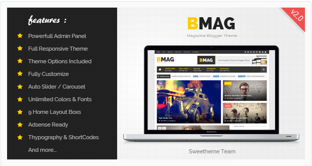 BMAG V2 - Premium Template Responsive SEO Free Download