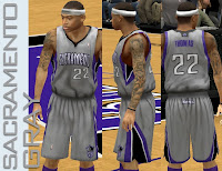 NBA 2K13 Sacramento Kings Fictional Gray Jersey