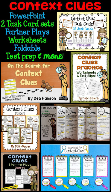 Context Clues Activities! Multiple activities created for the upper elementary classroom!