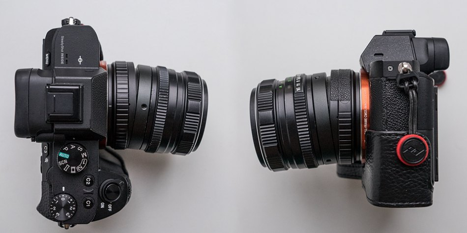 Максимальный наклон объектива на тилт-адаптере M42-SonyE на камере Sony A7 II