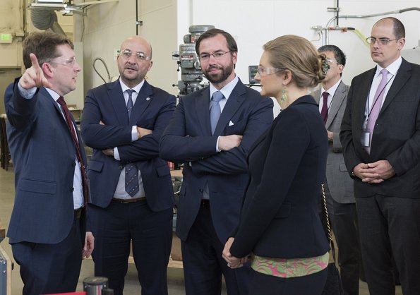 Hereditary Grand Duke Guillaume and Hereditary Grand Duchess Stéphanie of Luxembourg visited the Vulcan Aerospace and Planetary Resources in Seattle