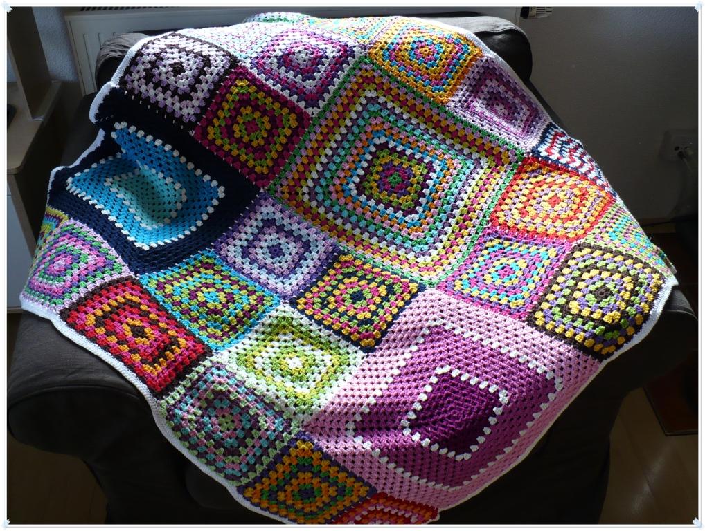 n h geschick granny squares decke. Black Bedroom Furniture Sets. Home Design Ideas