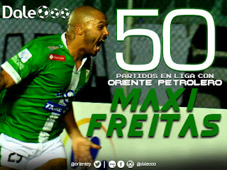 Maximiliano Freitas convirtió en su partido 50 con Oriente Petrolero en Liga - DaleOoo