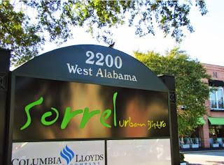 Sorrel Urban Bistro (archival pic of signage at 2200 West Alabama)