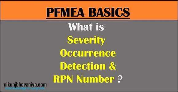 What is Severity Occurrence Detection and RPN Number in FMEA?