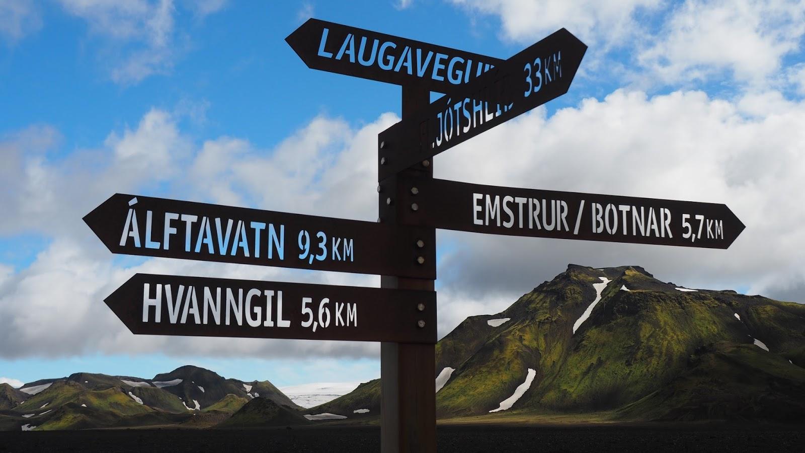 znaki Islandia, trekking