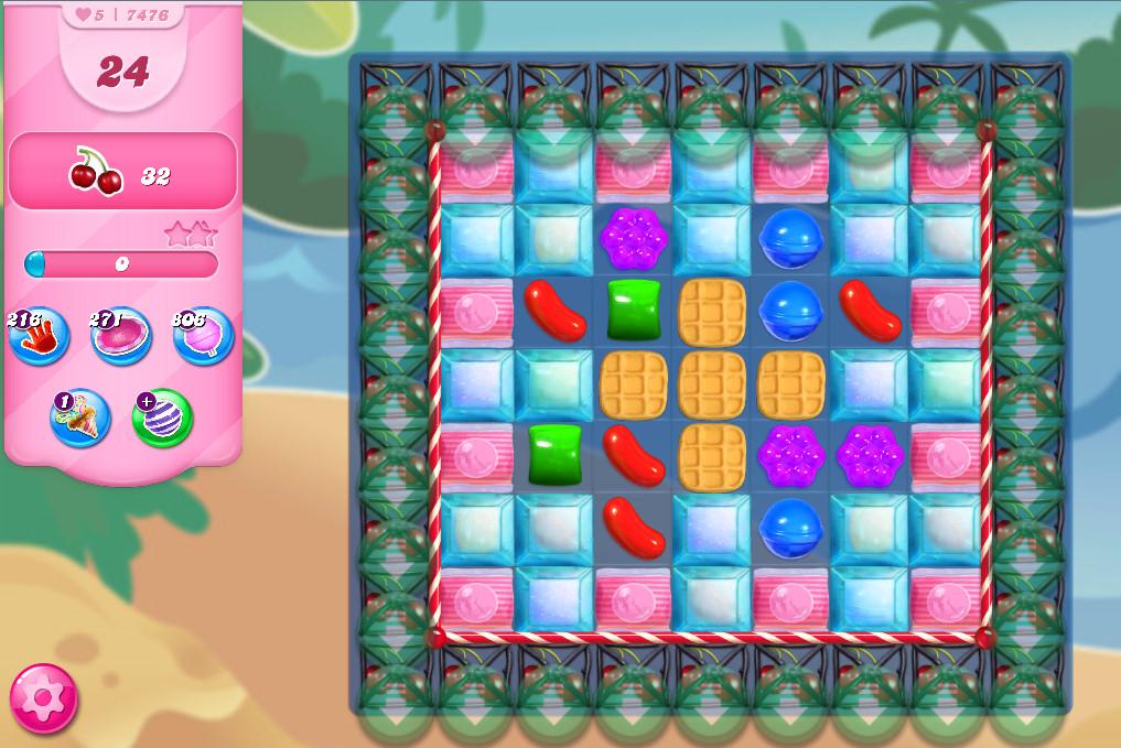 Candy Crush Saga level 7476