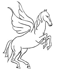 coloring pages unicorn with wings - photo#12