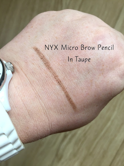 NYX Micro Brow Pencil swatch in Taupe