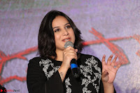 Cute Poja Gandhi in black dress at Dandupalyam 2 Movie press meet  ~  Exclusive 19.JPG