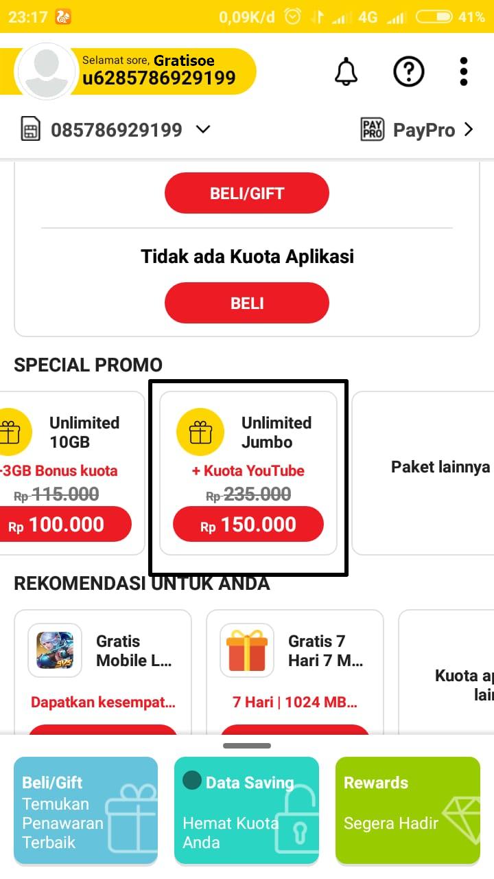 Paket Internet Indosat Ooredoo Unlimited Jumbo Diskon Rp 85000 Kuota 3gb Untuk Cara Membelinya Bisa Langsung Deal 123111 Pilih Lainnya Lalu Cari Yang Ada Tulisan Atau Melalui Aplikasi Myim3