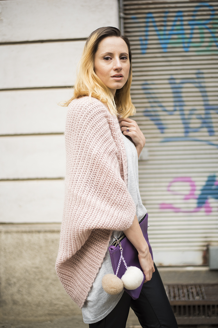 rose quartz cocoon sweater