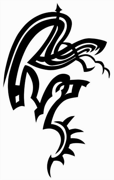 Snake tribal tattoo stencil