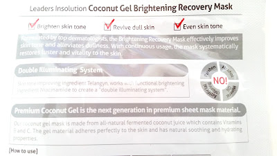 Information about the Brightening Recovery mask.