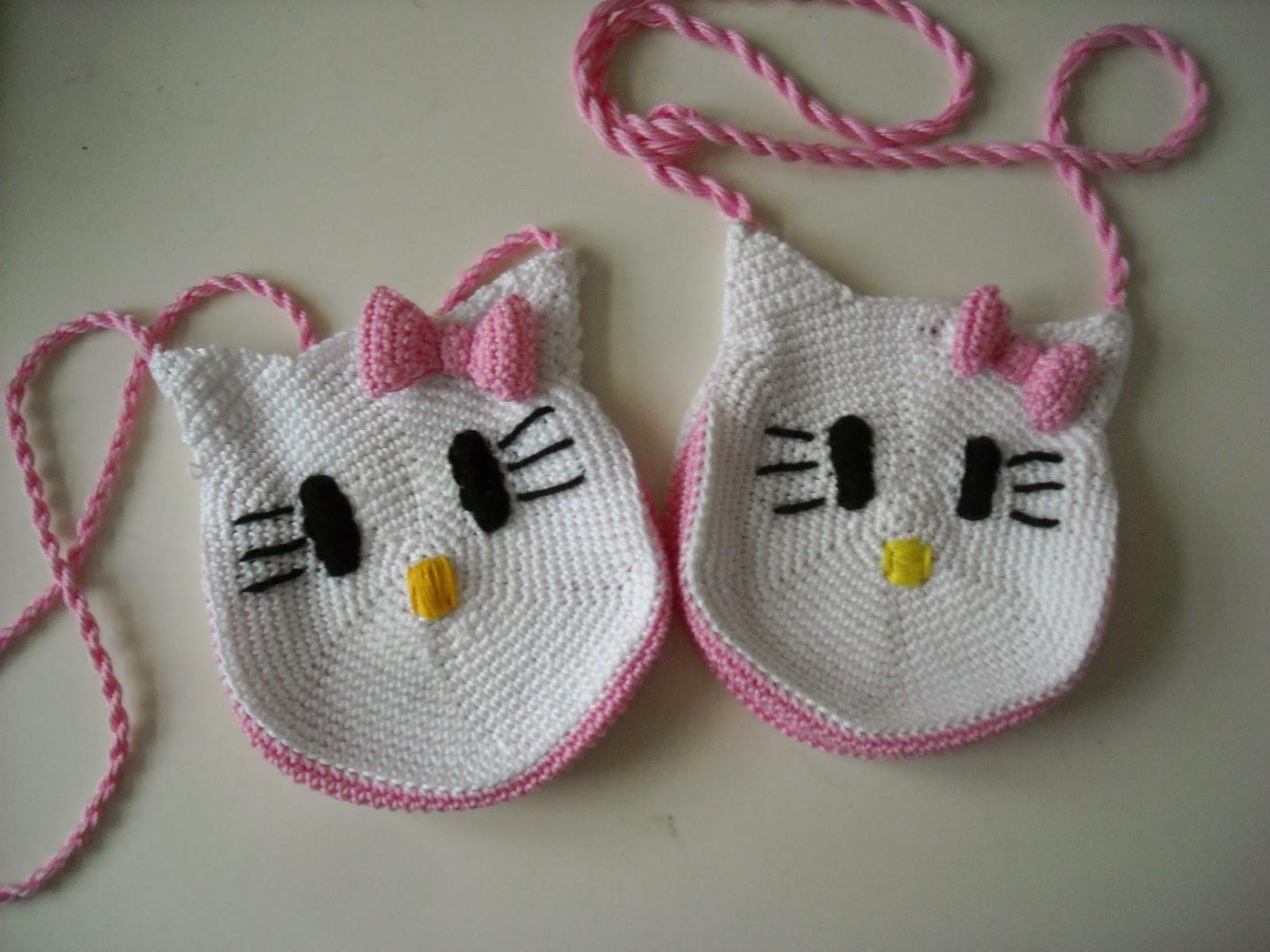 Haken En Zo Wat Meer Tinekeshaakpatronen Haakpatroon Hello Kitty Tasje