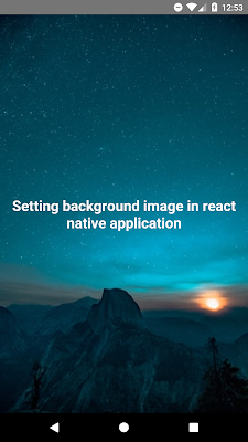 Fullscreen Background Image in React Native