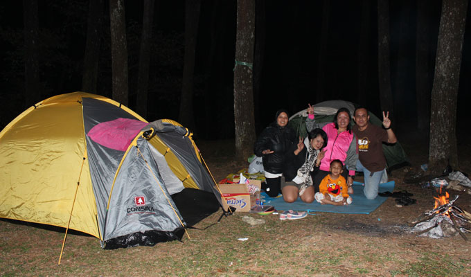 camping gunung puntang