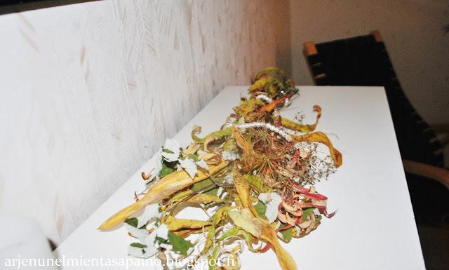 asetelma, luonnonmateriaali, lehdet, kasvit, ruska, koti, syksy