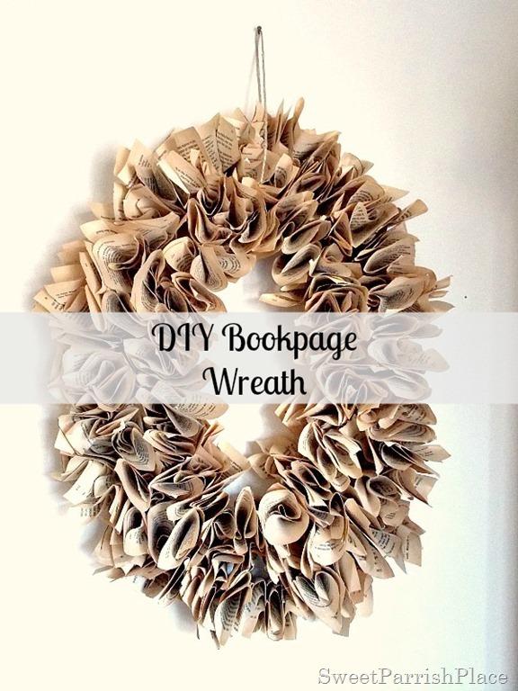 DIY Bookpage Wreath