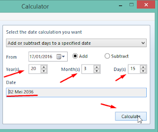 isikan data dan klik calculate