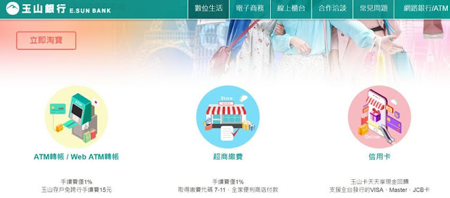 esunbank-taobao-atm-國外網站用外幣刷卡購物,要哪種信用卡、如何處理,匯率+手續費才能最划算?