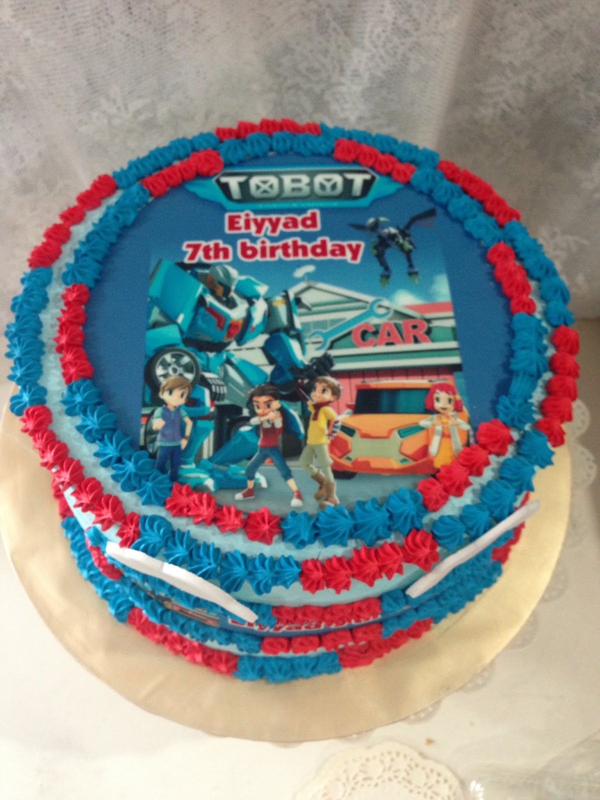 Birthday Cake Edible Pictures : ninie cakes house: Tobot Birthday Cake with Edible Image