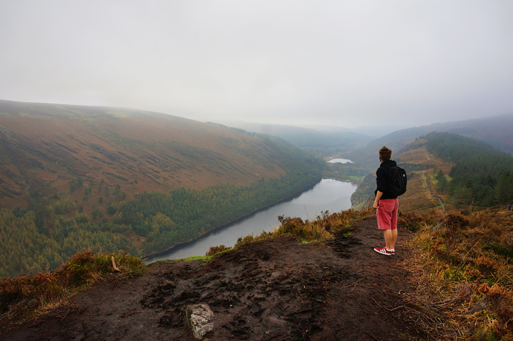 Cliff edge on Glendalough cliffs