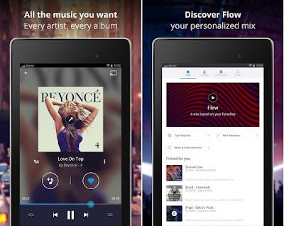 Tampilan Aplikasi Deezer Music Player Premium