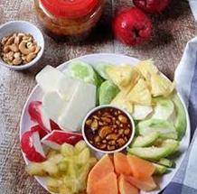 Cara Membuat Rujak Kacang Mede Sederhana