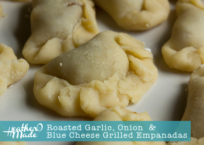 Roasted Garlic, Onion and Blue Cheese Grilled Empanadas. like cucharamama. recipe.