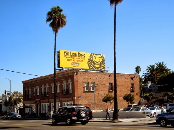 Lion King musical LA 2013 billboard