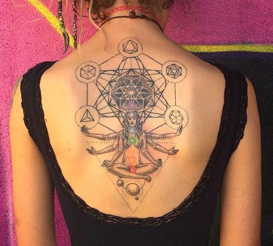 Geometric Chakra Tattoo