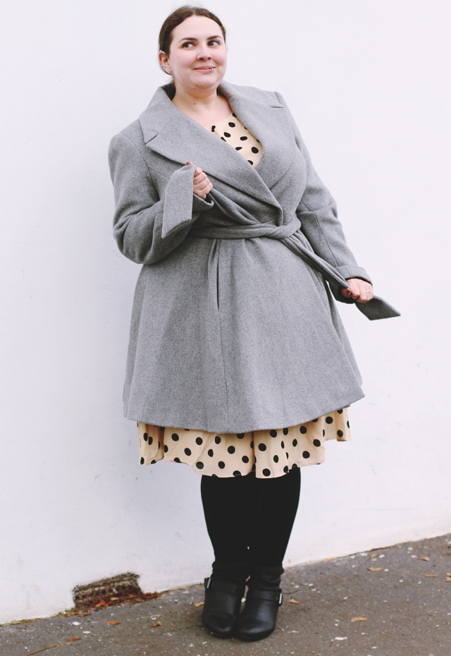 plus size winter outfit