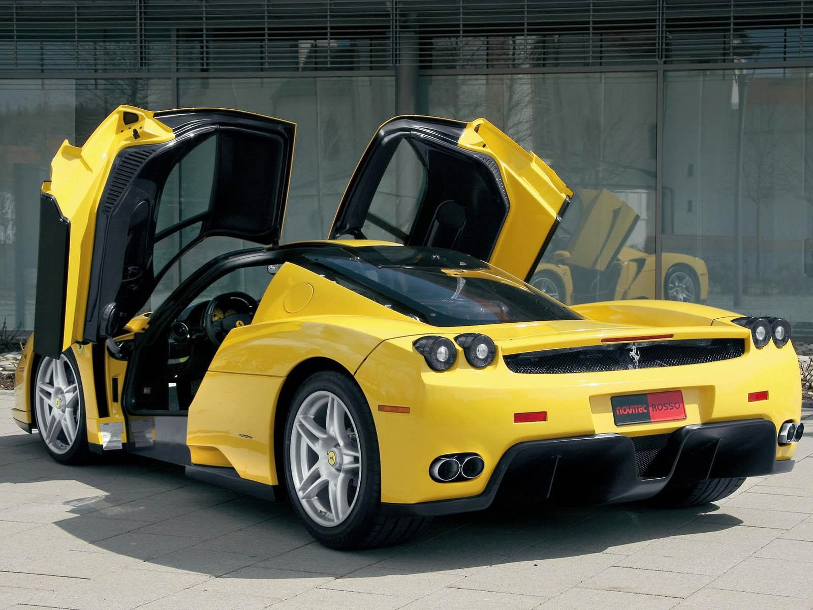 Free Wallpapers For You Picture Yellow Ferrari Car Door Open