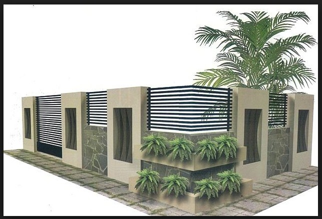 Model pagar rumah minimalis 2 lantai